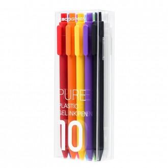 Zestaw długopisów żelowych Kaco Pure 10 sztuk