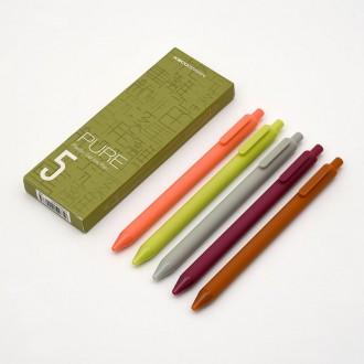 Zestaw długopisów żelowych Kaco Pure 5 sztuk natura