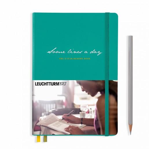 Dziennik pięcioletni Leuchtturm Some Lines A Day szmaragdowy