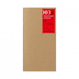 Wkład do Traveler's Notebook 003 gładki