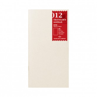 Wkład do Traveler's Notebook 012 papier szkicowy