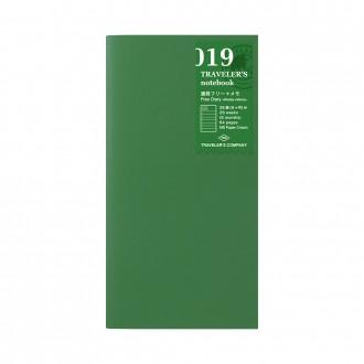 Wkład do Traveler's Notebook 019 kalendarz tygodniowy