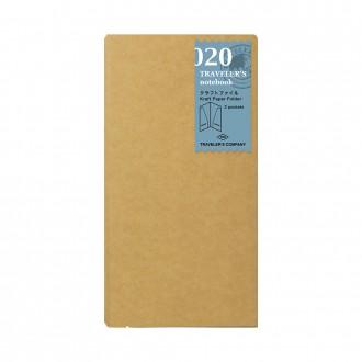 Wkład do Traveler's Notebook 020 folder
