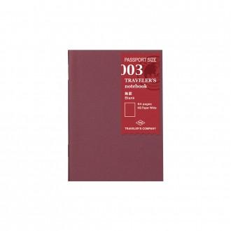 Wkład do Traveler's Notebook Pasport 003 gładki