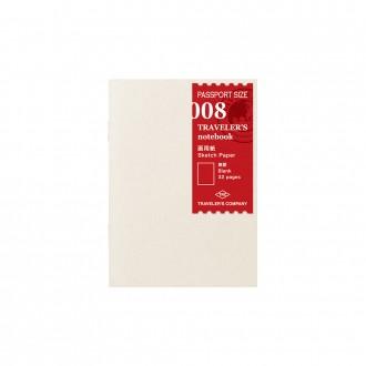 Wkład do Traveler's Notebook Passport 008 papier szkicowy