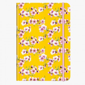 Cedon notes A5 Blossoms Yellow