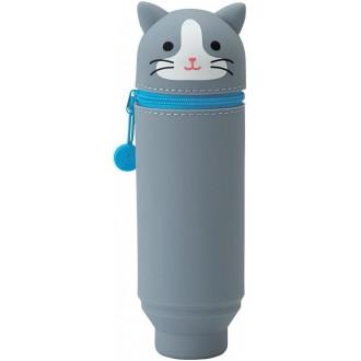 Piórnik stojący PuniLabo szary kot