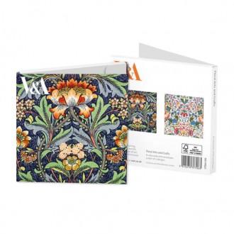 Zestaw kartek z kopertą z motywami florystycznymi