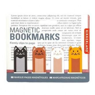 Kikkerland zestaw 4 zakładek do książki Koty