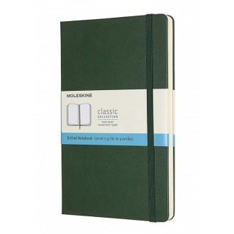 Notatnik Moleskine L w twardej oprawie w kropki zielony