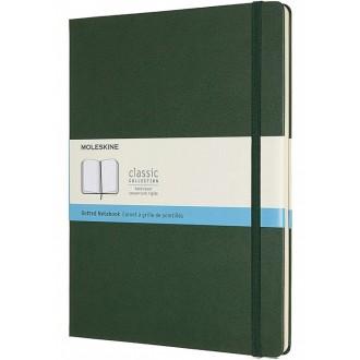 Notatnik Moleskine XL w twardej oprawie w kropki zielony