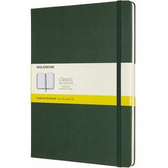 Notatnik Moleskine XL w twardejoprawie w kratkę zielony