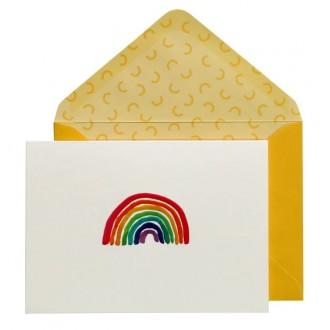 Zestaw kartek z kopertą z motywem tęczy