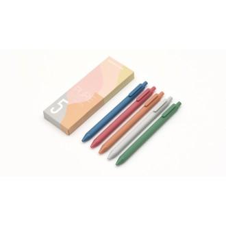 Zestaw długopisów żelowych Kaco Pure 5 sztuk morandi