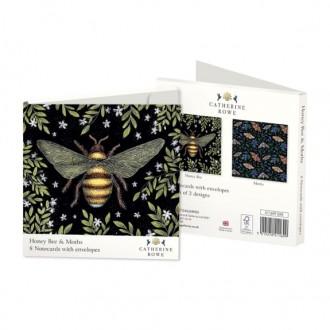 Zestaw kartek z kopertą z motywem pszczół i ciem