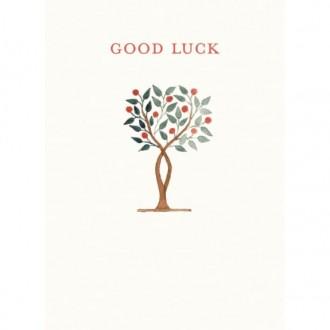Kartka Powodzenia z drzewkiem
