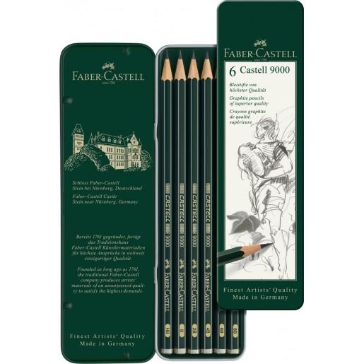 Faber Castell zestaw 6 ołówków w pudełku